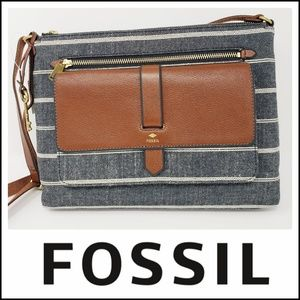 Fossil | Kinley Crossbody Chambray  NWT